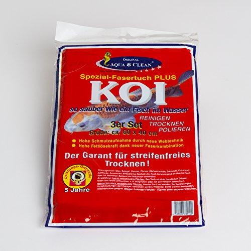 Aquaclean Microfasertuch Spezial Fasertuch Plus KOI 60 x 40 - Set 3 Stück