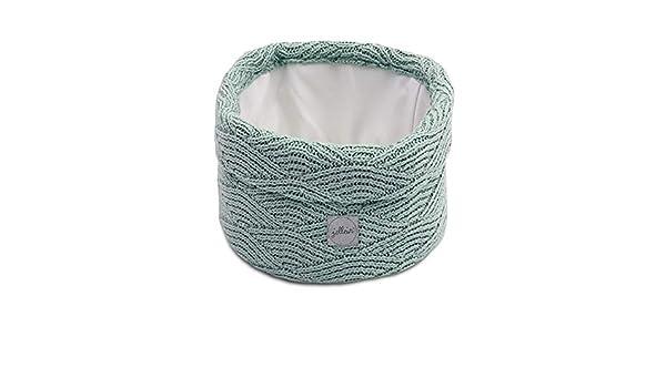 Jollein Wickeltisch K/örbchen rund Utensilientasche Korb River knit ash green