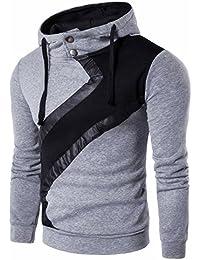 Suéter de los Hombres Chaqueta de Ropa Informal de los Hombres Delgado  Empalme Collar del Soporte 4fff2d3bd7d
