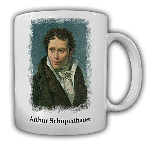 Johann Arthur Schopenhauer Danzig Frankfurt Deutscher Philosoph Erkenntnistheorie Metaphysik Ästhetik Ethik Porträt 1815 Ludwig Sigismund Ruhl - Tasse Kaffee Becher #16976