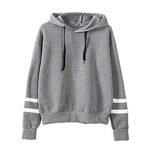 MEIbax Mujeres Manga Larga Sudadera con Capucha Jersey con Capucha suéter Tops Blusa