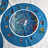 Docooler PVC Bright Color Baby Inflatable Water Mat Infant Underwater World Playmat Toddler Fun Activity Pad Perfect for Summer Use