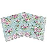 gysad 5confezioni (20fogli/Confezione) tovaglioli carta Fiori modello di Fiori della vendemmia tovaglioli carta polpa di legno nativa tovaglioli decoupage 33x33cm b