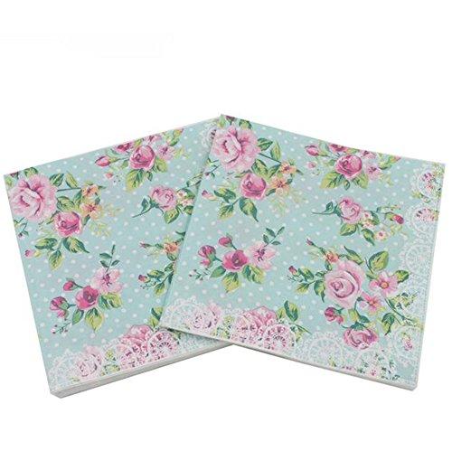 Laat Romantische Floral Pattern Paket-Papier/Schicht Doppel Vintage Papier für Scrapbooking and Craft (Stäbe , style B, 33x33cm -