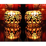 Votive Glass Candle Holders Table Decorations Event & Party Supplies 3 Inch ( 2 Pcs )