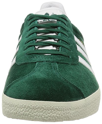 adidas Gazelle, Baskets Basses Mixte Adulte Green (Collegiate Green/Vintage White/Gold Met.)