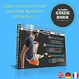 Fit Nation Faszienrolle – Foam Roller Set zur Selbstmassage mit Übungsbuch – Sport Massagerolle Für Anfänger, Profis, Damen & Herren – Orange - 5