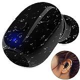 JIAN YA NA Wear Bequeme Wasserdichte Wireless Mini Bluetooth in-Ear-Ohrhörer Kopfhörer bis zu 12 Meter Unsichtbare Sport-Kopfhörer Sweat Proof Stabil Fit in Ear Workout Headsets für Schwimmen