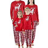 luoluoluo Pigiama Pigiami Natale Famiglia Pigiami Donna Pigiama Uomo Pigiama Bambina Invernali - Natale Abbigliamento Famiglia,8pcs Famiglia Corrispondenza Pigiama Due Pezzi di Natale