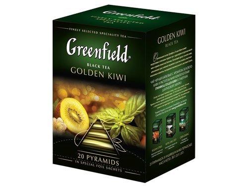 Tee Greenfield Pyramide Golden Kiwi, Inhalt 20×1,8g Pyramidenbeutel