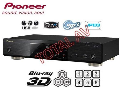Pioneer bdp-450Multi Region 3D Blu-ray Player–Multi Region für DVD Region 1–6und Blu-ray Region A, B & C mit USB–Wiedergabe DivX, DivX + HD, 3gp videos, MKV, FLV, WMA, MP3und JPEG-Dateien von Ihrem PC und anderen digitalen Geräten + Free JetFlash 4GB USB 2.0Flash Drive + vergoldete HDMI-Kabel
