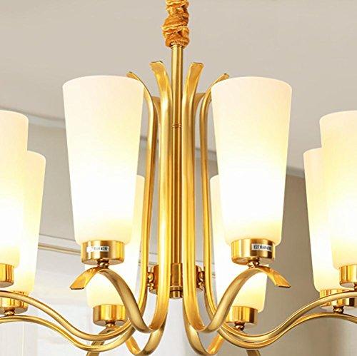 Tall, Kronleuchter (Land - breite Kupfer einfache Wind Kronleuchter Wohnzimmer Schlafzimmer Studie kreative Beleuchtung , no light source)