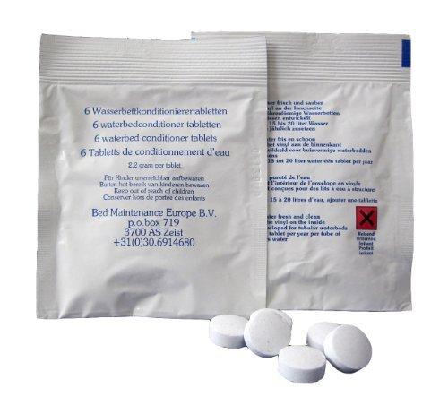 6x Konditionierer Tabletten für Wasserkopfkissen