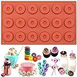 18 Cavity MINI Doughnut Donut SILICONE cake cookie chocolate fimo soap MOULD 29*17*1CM