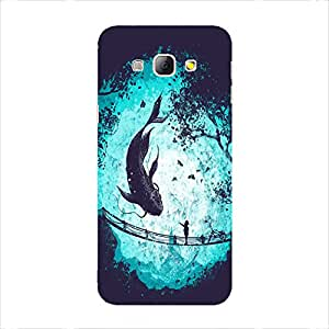 Back Cover for Samsung Galaxy A8 ABSTRACT BLUE