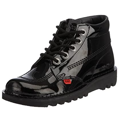 Kickers Women's Kick Hi' Ankle Boots, Black (Black Patent), 8 UK 1