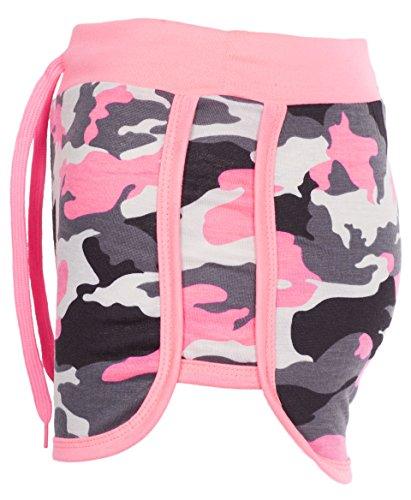Armee Camouflage Shorts (Noroze Damen Camouflage Hot Pants Frauen Armee Shorts (Pinke, M))