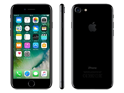 510S59aDQOL - iPhone 7 128GB Diamant Schwarz Jet Black Retina HD Wide iOS10 A10 Quad-Core