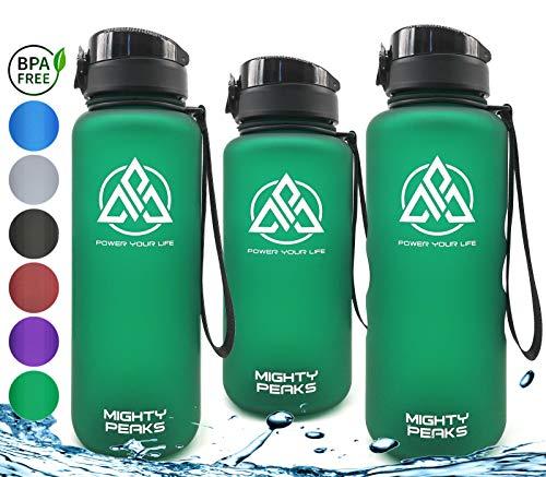 MIGHTY PEAKS Tritan Sport-Trinkflasche 1.5 Liter | BPA frei | 1500ml 1 5 Liter 1,5 Liter | Wasserflasche 1,5 Liter | Grün,Gruen,Green | Ideale Sportflasche für Fahrrad,Fitness,Fussball,Kinder,Sport