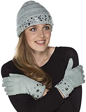 i-smalls Ltd - Set de bufanda, gorro y guantes - para mujer