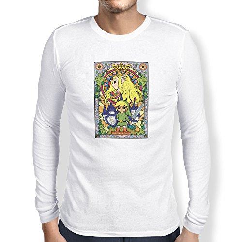TEXLAB - Window Link - Herren Langarm T-Shirt Weiß
