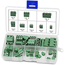 Aussel 40 Stück Leiterplatten-Schraubklemmenblock 2Pin 3Pin Leiterplattenmontage-Schraubverbinder (40Stück)
