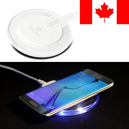 MP power @ Blau Wireless Qi Ladegerät LED Drahtloses Induktive Ladestation für Apple iPhone X iPhone 8 Plus iphone 8 Samsung S7 S7 Edge S6 S6 Edge LG Nexus 6 5 Nokia 1520 Alle Andere Qi-fähiges Geräte