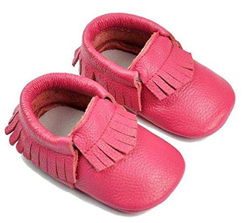 0 Rastejando Unissex Sapatos Couro Smith Menino Rosa Calçados Walker Bebê Estrada Mocassim Meses Menina Sapatos Com 24 Borla Genuíno x448SqZw