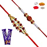 #7: Maalpani Rakhis -Twin Rakhi Bracelate Rakhi n Traditional Rakhi set with Chocolate