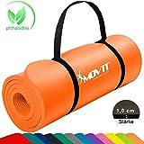 MOVIT Pilates Gymnastikmatte, Yogamatte, phthalatfrei, SGS geprüft, 183 x 60 x 1,0cm, in Aprikose