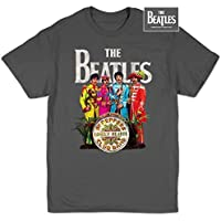 Alida Liuwer Beatles, The - Mens Sgt Pepper T-Shirt in Charcoal - Beatles Revolution T-shirt