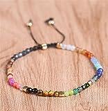 Warmman Modische Armband DIY handgewebte Perlen Armband (bunt)