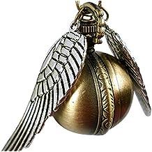 Steampunk Orologio ispirato da Harry Potter dorato con ciondolo sferico e catenina, in bronzo anticato, marca H&H UK