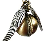 Steampunk Pendant Watch Harry Potter Inspired Golden Snitch Necklace Timepiece From H & H UK (Antique Gold)