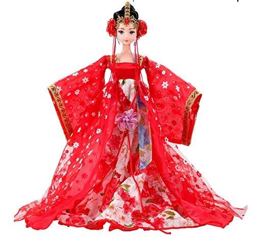 Chinesische Braut Kostüm Puppe als Geschenk für Mädchen, Zufall Stil (Kostüm Barbie Braut)