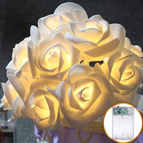 Rote Laterne Stoff (Gartenlichterkettenlichter Im Freien Wasserdichte Gartenhochzeit Der Lichterketten Led Stoff Rose Dekorative Laterne Romantische Ehe Batterie Ist Immer Hell, Rot, 10 Lichter 1,2 Meter)