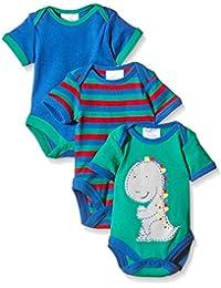 Twins Body a Manica Corta per Bebè, Pacco da 3
