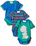 Twins Baby - Jungen Kurzarm-Body (3er Pack)