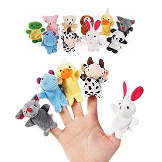 Marionnettes ensemble velours Style animaux mous Push marionnettes à doigt 10pcs