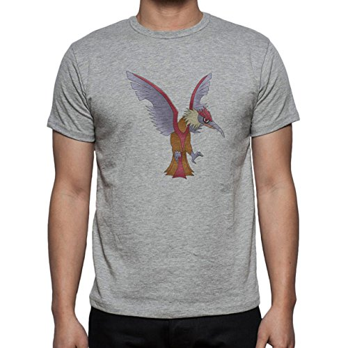 Pokemon Fearow Bird Flying Normal Blue Wings Herren T-Shirt Grau