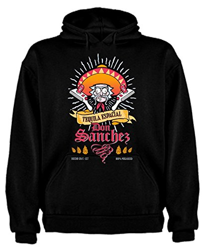 Sudadera de Rick and Morty Divertida Friky Smith Tiny hombre S Negro