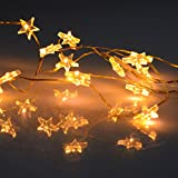 (762) Lichterkette 20er Mini LED Sterne -extra warmweiss- batteriebetrieben