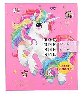 Depesche Diario 10856 con código, Sonido y Efectos de luz, Ylvi y los Minimoomis, Aprox. 18 x 15 x 4 cm, Color Rosa.