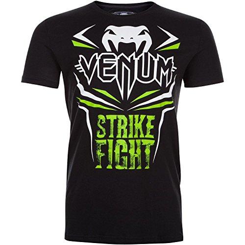 Venum Herren Strike Fight T-Shirt Schwarz/Neon Grün