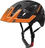 Cratoni Kinder Maxster Pro Fahrradhelm, Black/Orange Matt, S-M