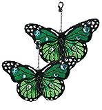 Ohrringe Schmetterling, sortierte Farben, Karneval, Accessiore (grün)