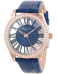 Kenneth Cole - KC2757 - Montre Femme - Quartz Analogique - Aiguilles Lumineuses - Bracelet Cuir Bleu