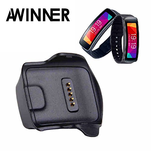 Bighub AWINNER Charger Cradle Charging Dock Desktop for Samsung Gear Fit R350 Smart Watch Black (Samsung Galaxy Gear R350)