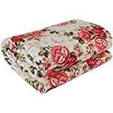 Cloud Mart Cotton Floral Printed Double Dohar, Standard Size (Red)