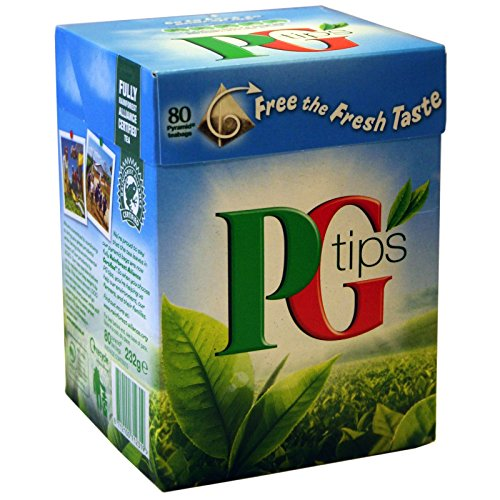 80 Beutel PG Tips Schwarzer Tee 232g